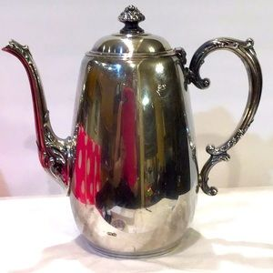 Vintage silver plated coffee pot very ornate